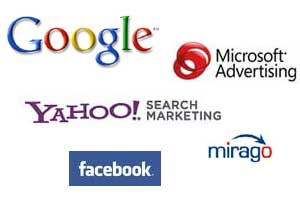 Google MSAdCenter Yahoo Facebook Yell Mirago Paid Search PPC